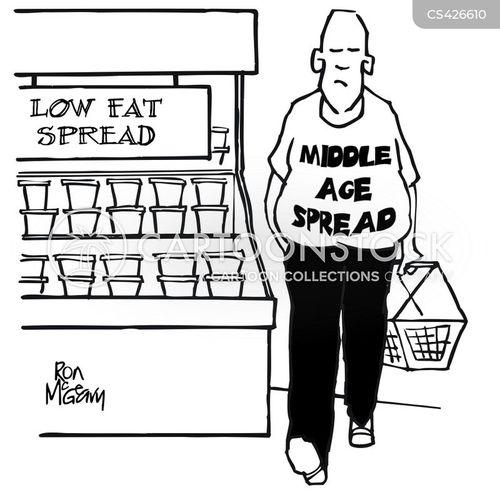 low fat cartoon