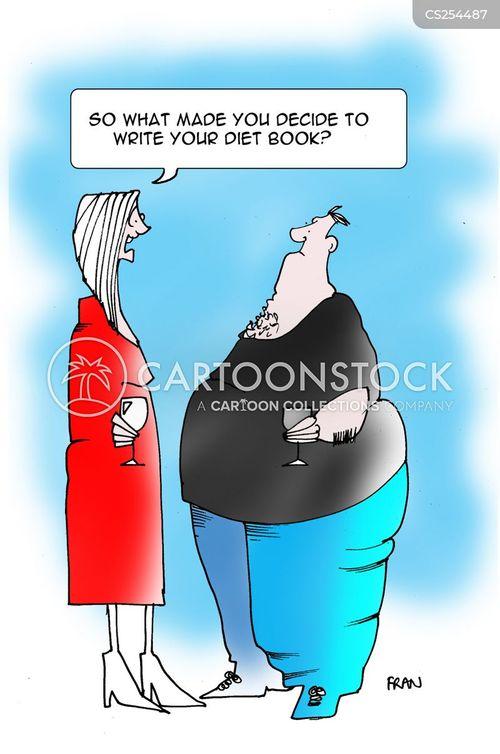 diet books cartoon