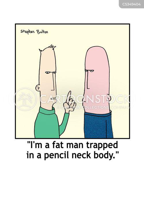 too thin cartoon