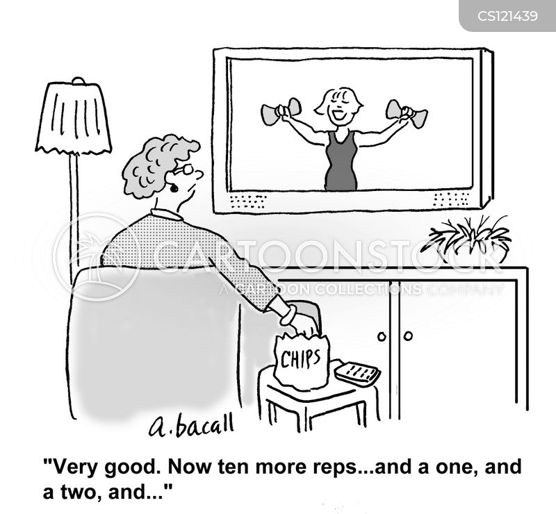 work outs cartoon