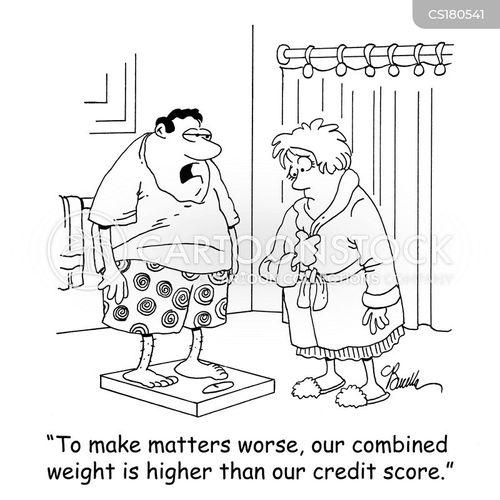weigh cartoon