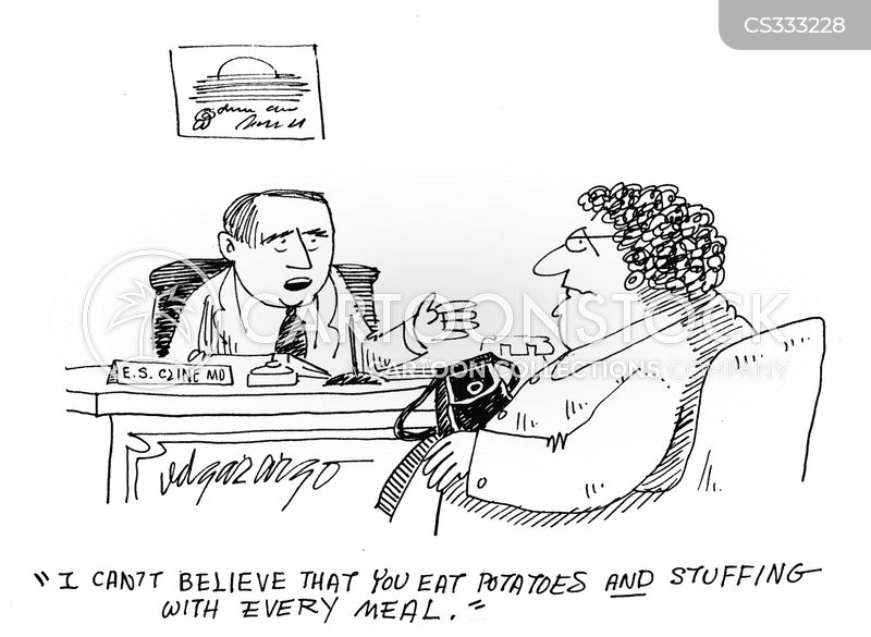potatoes and stuffing cartoon