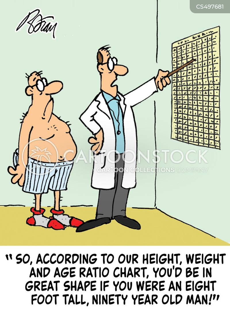 height chart cartoon