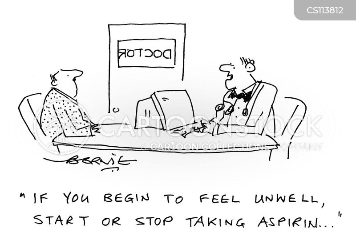 aspirin cartoon