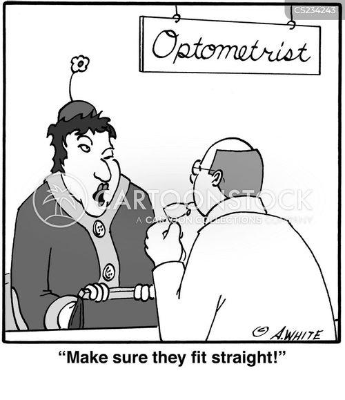 magnifying cartoon