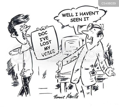 sore throats cartoon