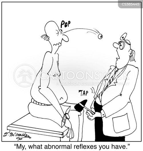 body reflexes cartoon