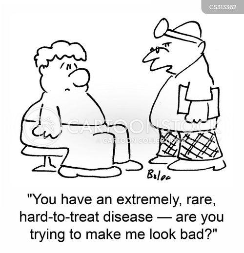 rare disease cartoon