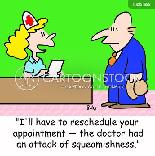 reschedule cartoon