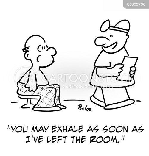 exhale cartoon