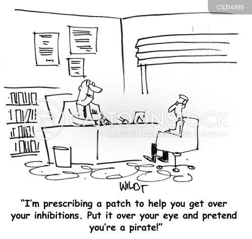 inhibitions cartoon