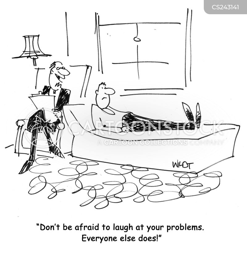 laugh at your problems cartoon