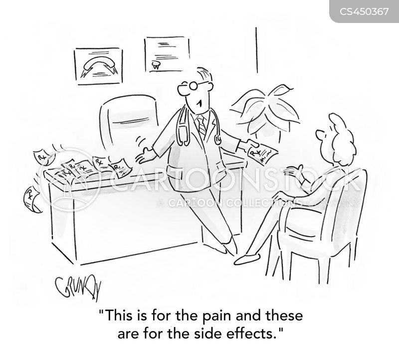 pain medication cartoon