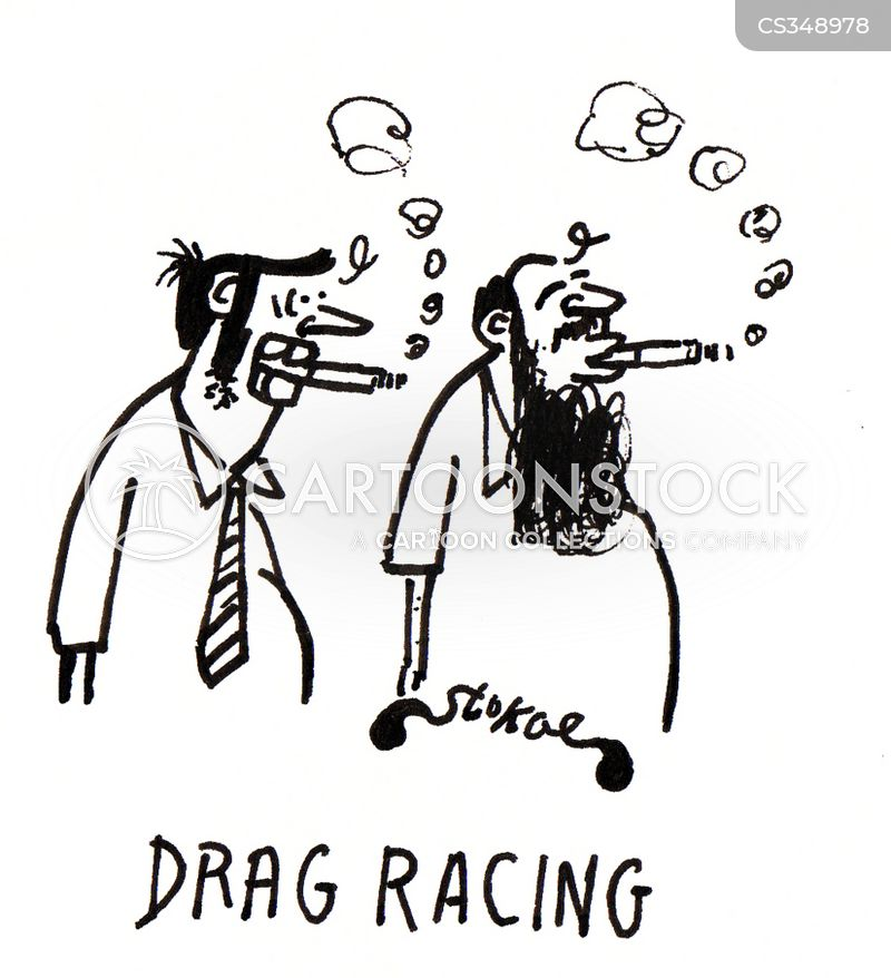 drag race cartoon