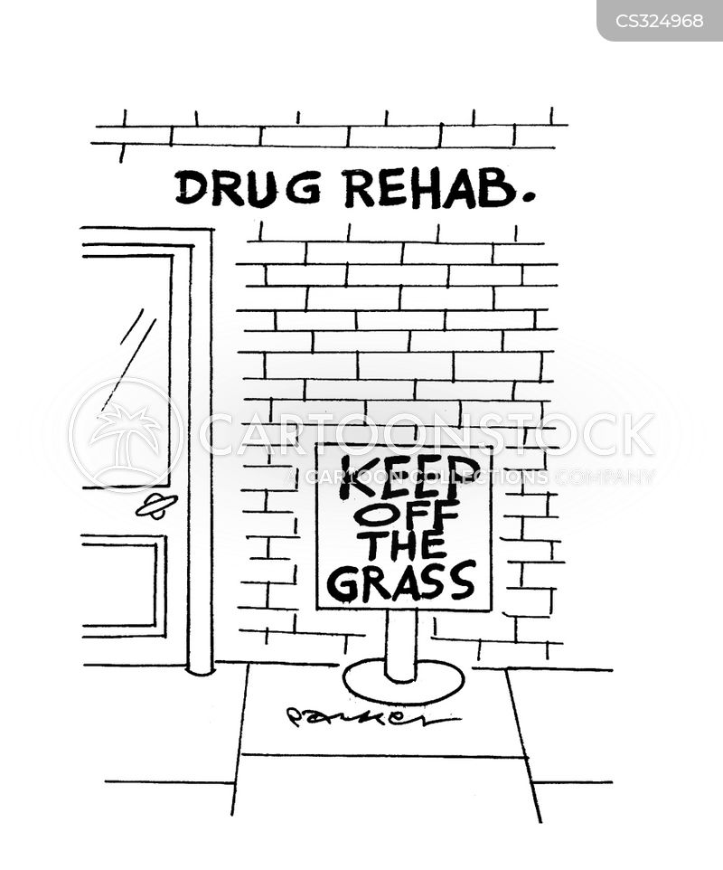 drug rehab cartoon