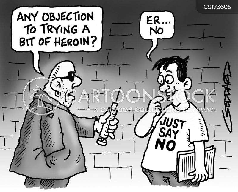 junkie cartoon