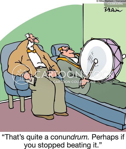 beating drum cartoon