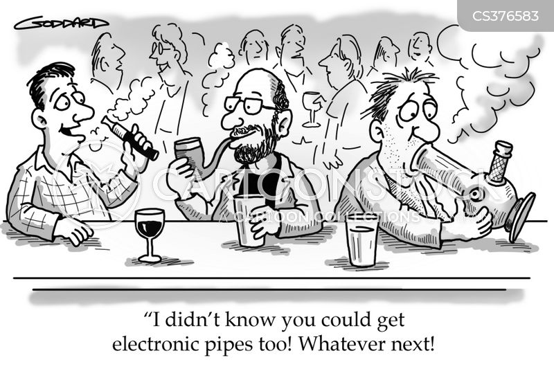 e-cigarettes cartoon