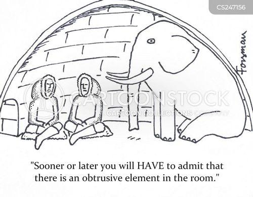 obtrusive cartoon
