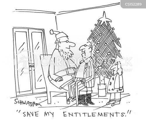entitlements cartoon