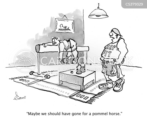 home gyms cartoon
