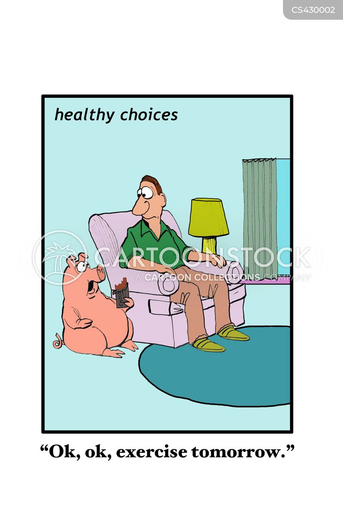 pigging out cartoon