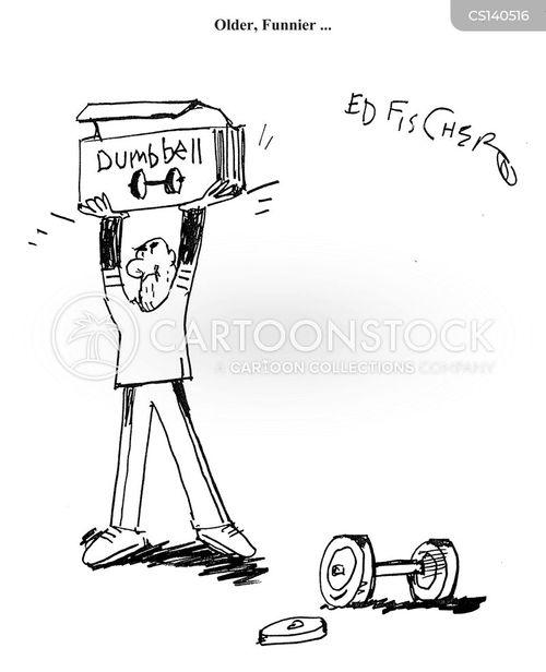 dumbbells cartoon