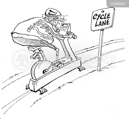 cycle lane cartoon