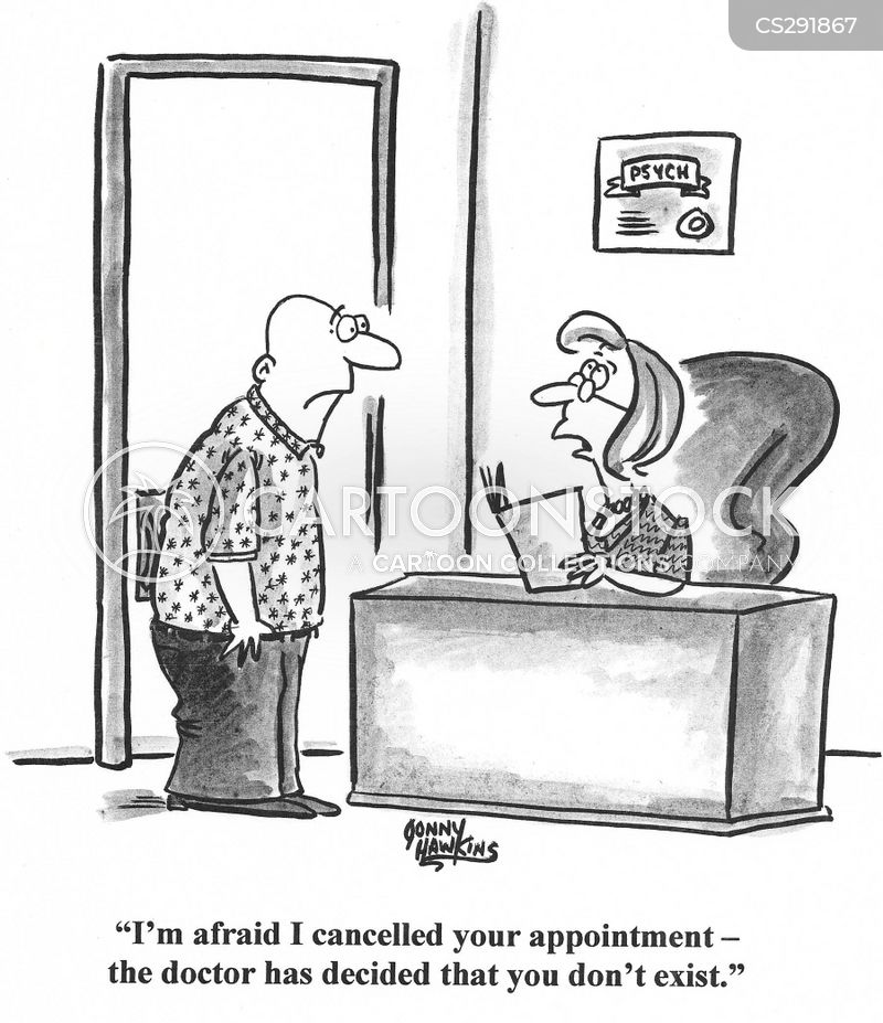 cancelled appointments cartoon