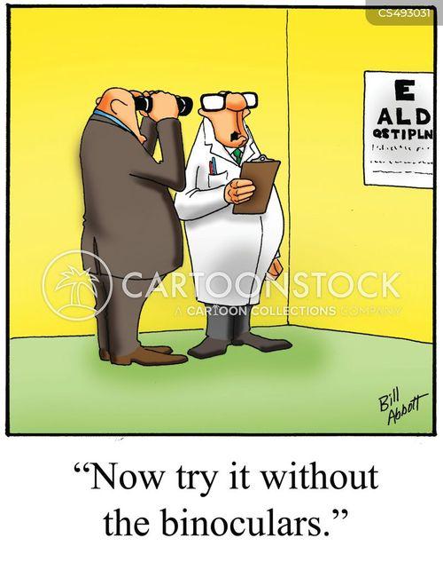 vision problem cartoon