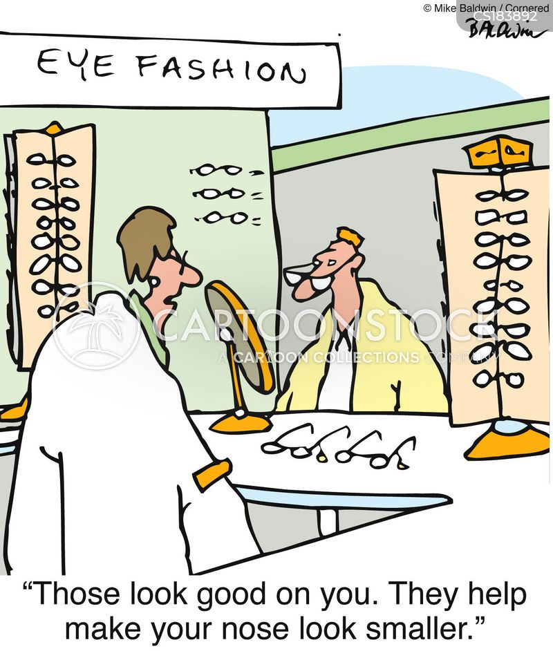 eye glasses cartoon