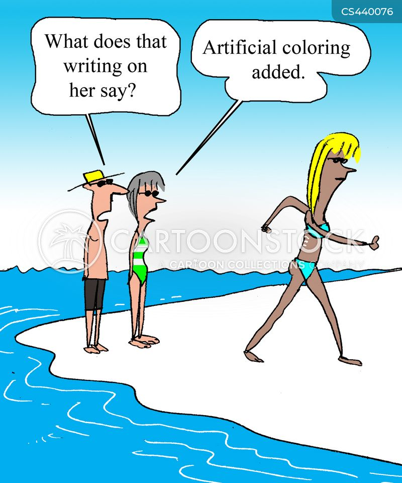 tanning lotions cartoon