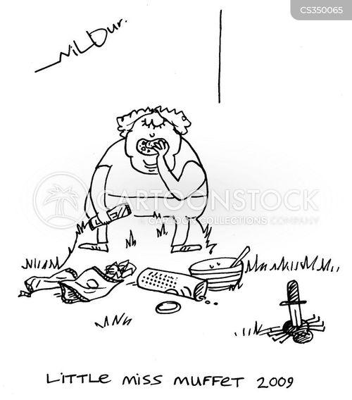 little miss muffet cartoon