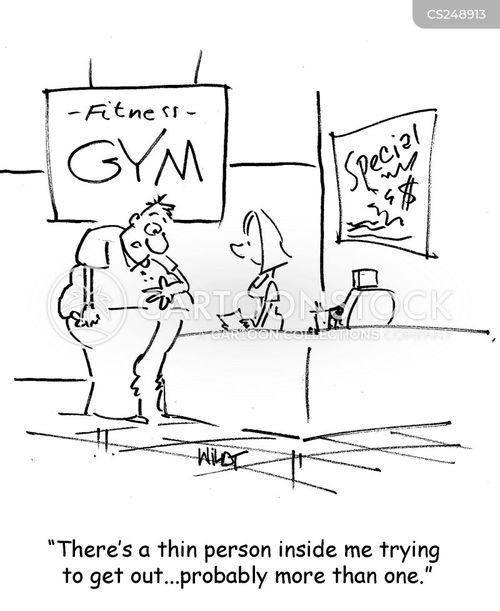 thin person cartoon