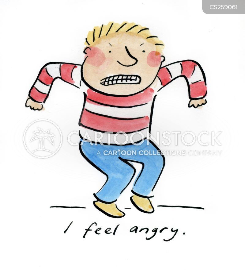 feeling angry cartoon