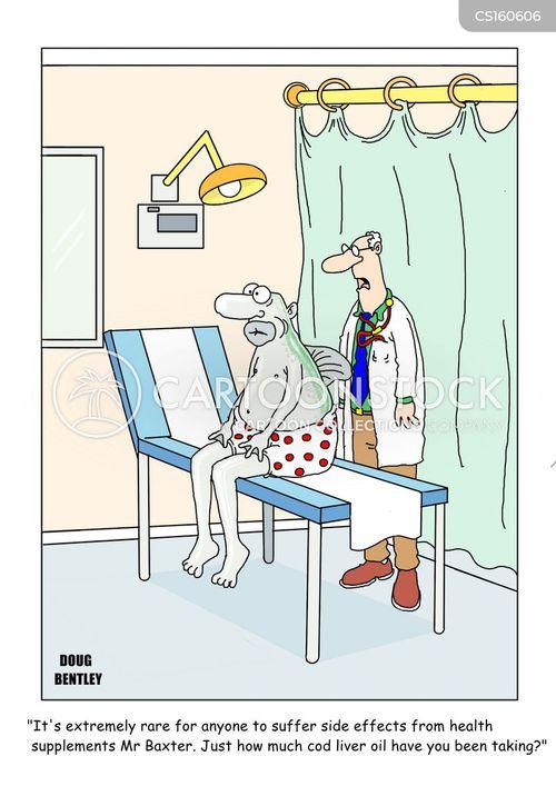 cod liver oil cartoon