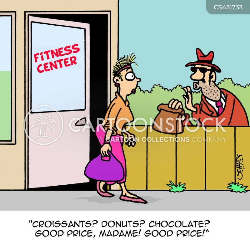 fitness centres cartoon