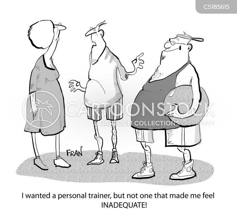 get fit cartoon