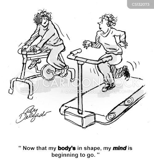 getting in shape cartoon