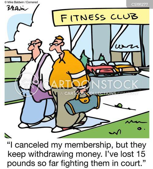 fitness club cartoon