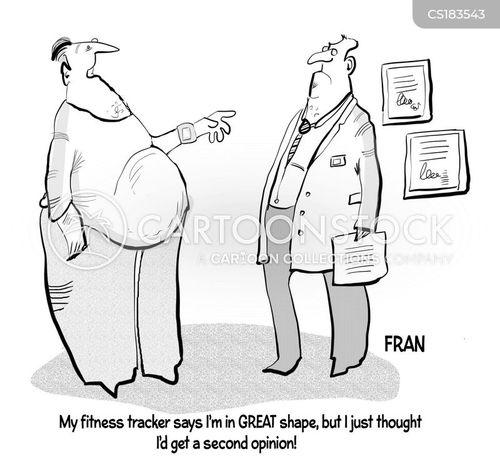 fitness trackers cartoon