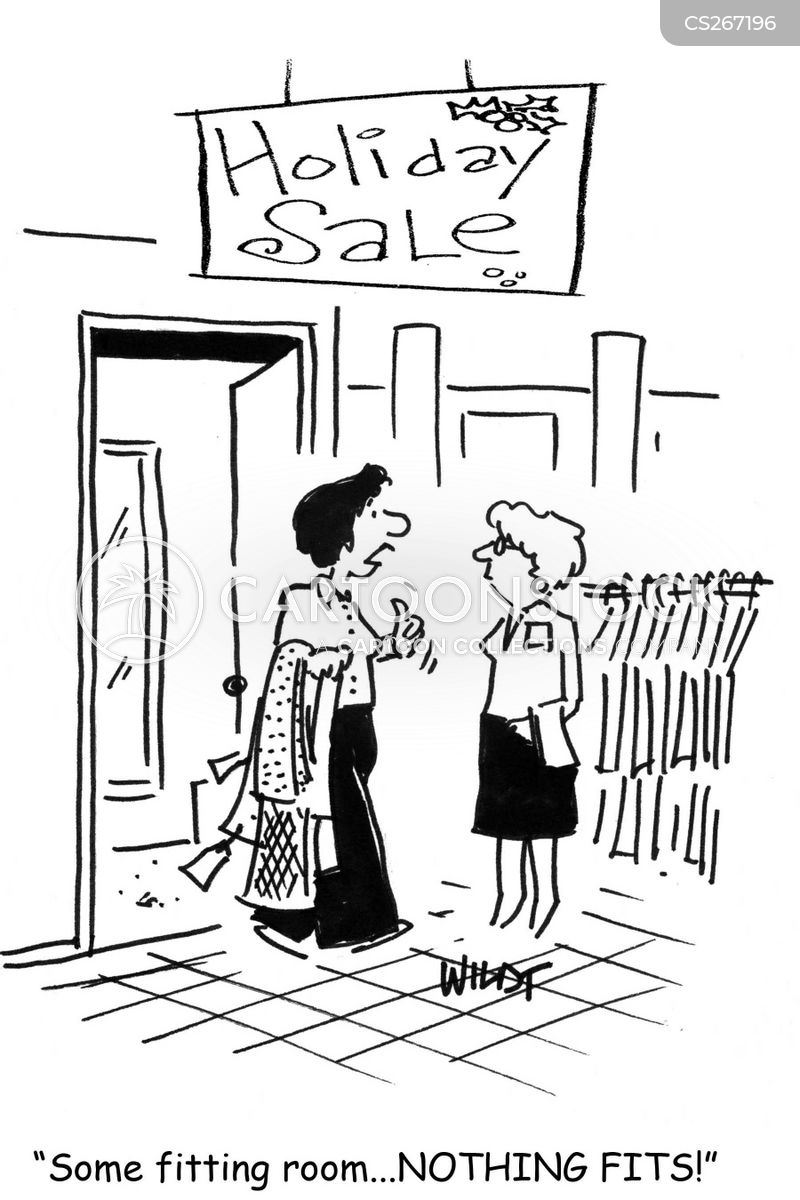 Image result for cartoons of fitting rooms
