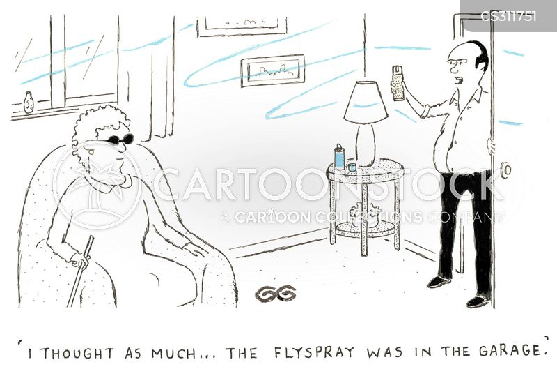 fly sprays cartoon