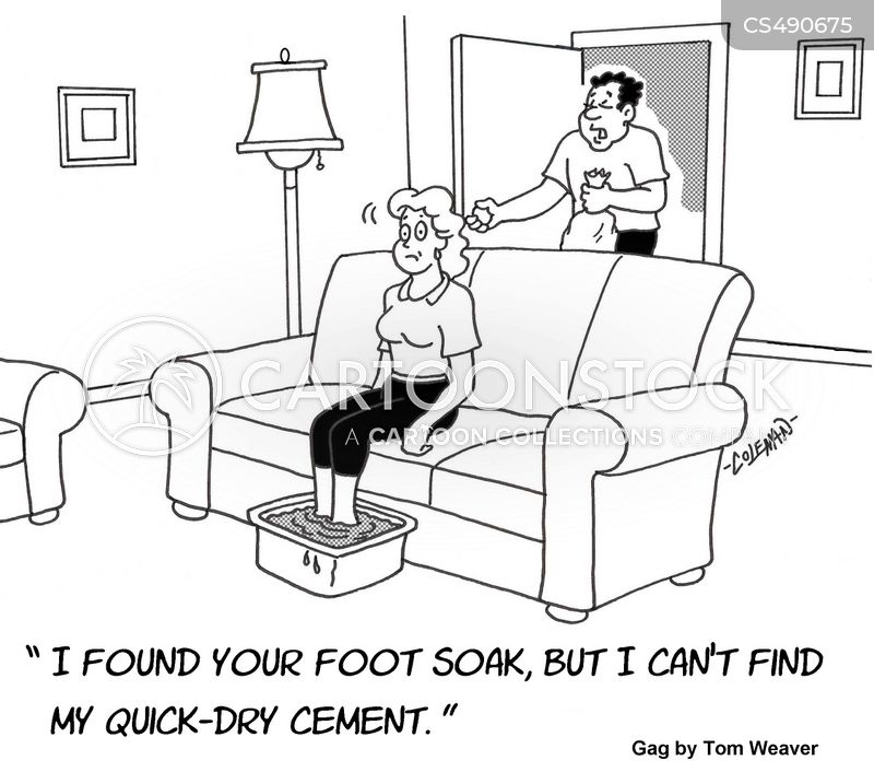 foot spa cartoon