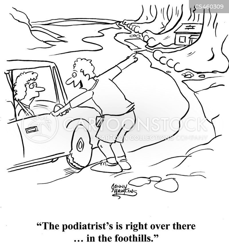 podiatrists cartoon