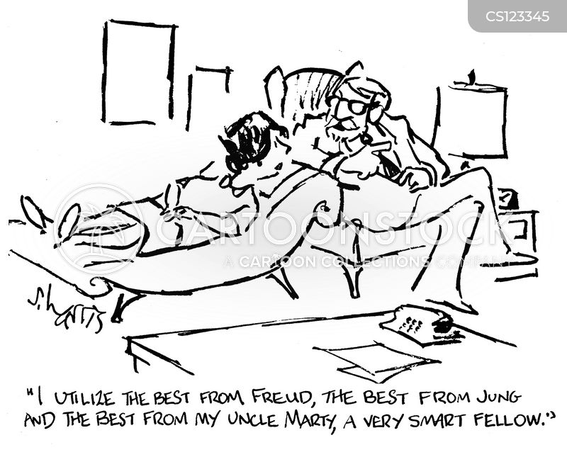 counselling couch cartoon