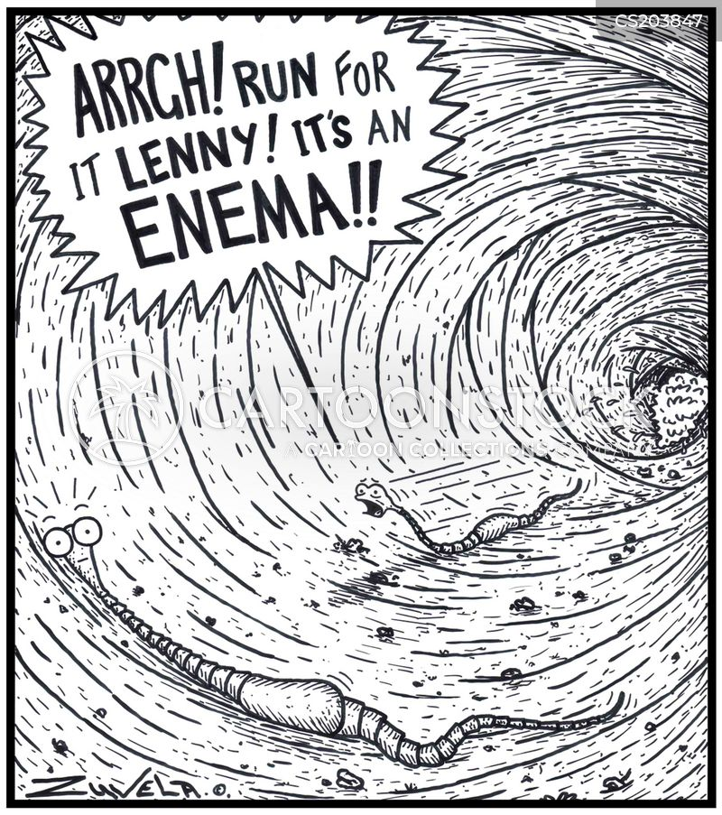 enema cartoon