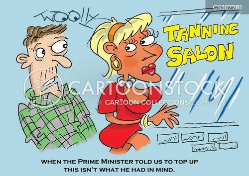 tanning salons cartoon