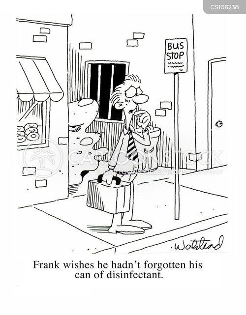disinfectant cartoon