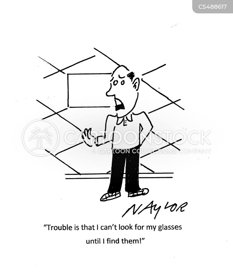 missing spectacles cartoon